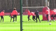 Zlatan Ibrahimovic Paul Pogba and others train ahead of the second round fixture in the last 16 Jose Mourinho watches the team following their loss...