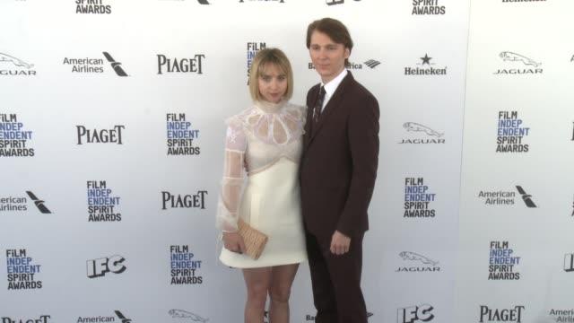 Zoe Kazan and Paul Dano at the 2016 Film Independent Spirit Awards Arrivals on February 27 2016 in Santa Monica California