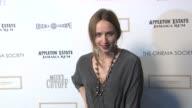 Zoe Kazan at the The Cinema Society Nancy Gonzalez Host A Screening Of 'Meek's Cutoff' at New York NY