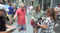 Zoe Kazan greets fans outside of the TODAY show in Rockefeller Center Celebrity Sightings in New York on August 04 2014 in New York City