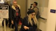Zoe Kravitz Karl Glusman departing at LAX Airport in Los Angeles in Celebrity Sightings in Los Angeles
