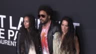Zoe Kravitz Lenny Kravitz and Lisa Bonet at Saint Laurent Event at Hollywood Palladium on February 10 2016 in Los Angeles California