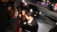 Zoe Kravitz meets greets fans while entering the Chateau Marmont in Los Angeles in Celebrity Sightings in Los Angeles