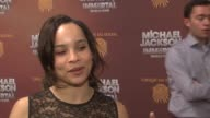 Zoe Kravitz on Michael Jackson at Michael Jackson 'The Immortal' World Tour New York Premiere at Madison Square Garden on April 03 2012 in New York...