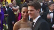 Zoe Saldana and guest at the 82nd Annual Academy Awards Arrivals at Hollywood CA