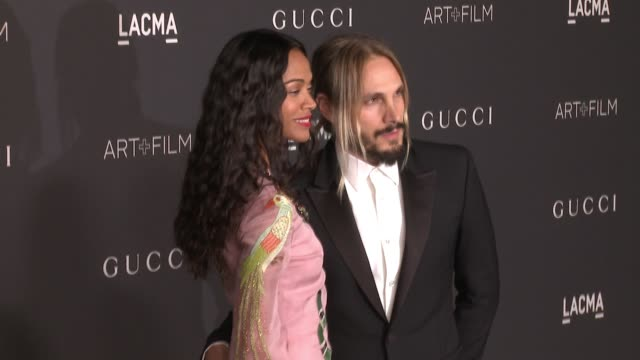 Zoe Saldana and Marco Perego at 2016 LACMA Art Film Gala Honoring Robert Irwin And Kathryn Bigelow Presented By Gucci at LACMA on October 29 2016 in...