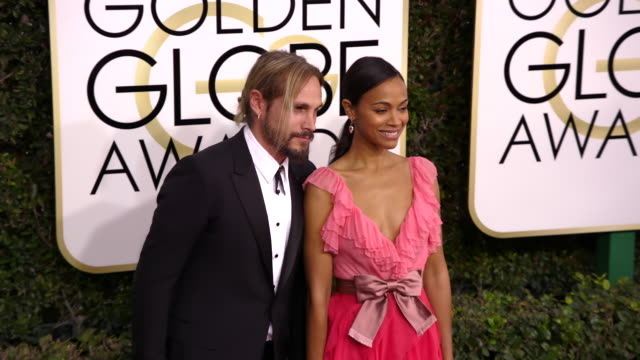 Zoe Saldana and Marco Perego at 74th Annual Golden Globe Awards Arrivals at 74th Annual Golden Globe Awards Arrivals at The Beverly Hilton Hotel on...