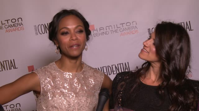 Zoe Saldana and Robbie Brenner on working together at the 7th Annual Hamilton Behind The Camera Awards in Los Angeles CA on 11/10/13