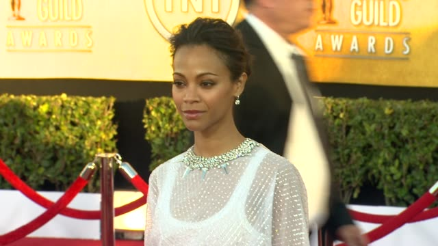 Zoe Saldana at 18th Annual Screen Actors Guild Awards Arrivals on 1/29/12 in Los Angeles CA