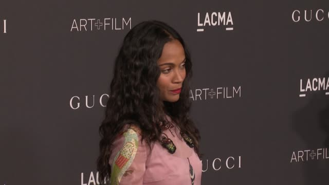 Zoe Saldana at 2016 LACMA Art Film Gala Honoring Robert Irwin And Kathryn Bigelow Presented By Gucci at LACMA on October 29 2016 in Los Angeles...