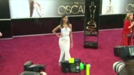 Zoe Saldana at 85th Annual Academy Awards Arrivals in Hollywood CA on 2/24/13