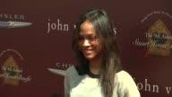 Zoe Saldana at 9th Annual John Varvatos Stuart House Benefit on 3/11/12 in Los Angeles CA
