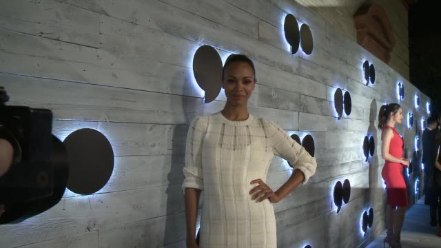 Zoe Saldana at go90 Gives VIP Sneak Peek Of New Social Media Entertainment Platform at Wallis Annenberg Center for the Performing Arts on September...