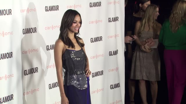 Zoe Saldana at the 2011 Glamour Reel Moments Premiere Presented By Clarisonic at Los Angeles CA