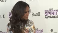 Zoe Saldana at the 2012 Film Independent Spirit Awards Arrivals on 2/25/12 in Santa Monica CA United States