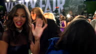Zoe Saldana at the 2012 Vanity Fair Oscar Party Hosted By Graydon Carter Inside Party at West Hollywood CA