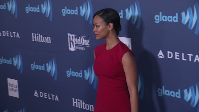 Zoe Saldana at the 26th Annual GLAAD Media Awards at The Beverly Hilton Hotel on March 21 2015 in Beverly Hills California