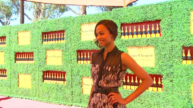 Zoe Saldana at the 2nd Annual Veuve Clicquot Polo Classic at Pacific Palisades CA