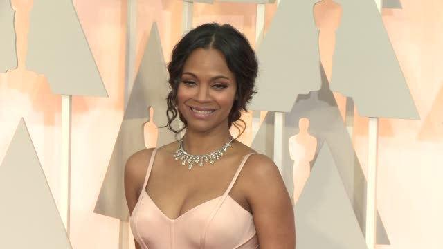 Zoe Saldana at the 87th Annual Academy Awards Arrivals at Dolby Theatre on February 22 2015 in Hollywood California