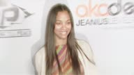 Zoe Saldana at the Akademiks and Disturbing Tha Peace Hold Private Reception Hosted by Ludacris Bobby V Chingy Steph Jones and Playaz Circle at Sky...
