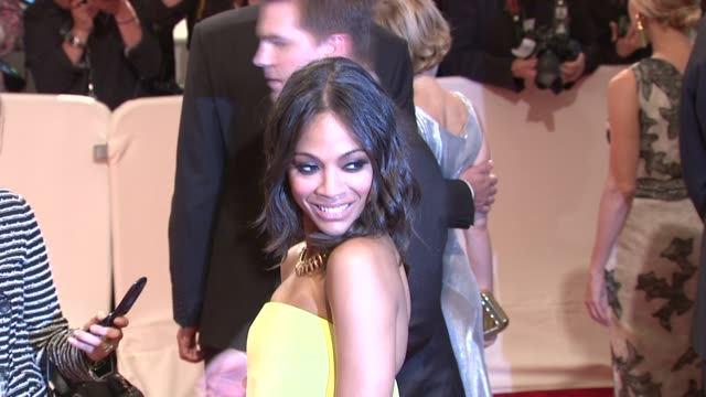 Zoe Saldana at the 'Alexander McQueen Savage Beauty' Costume Institute Gala At The Metropolitan Museum Of Art at New York NY