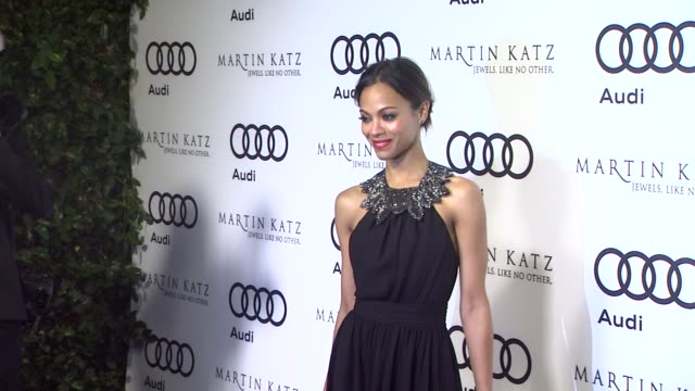 Zoe Saldana at the Audi And Martin Katz Celebrate The 2012 Golden Globe Awards in West Hollywood CA