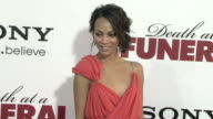 Zoe Saldana at the 'Death At A Funeral' Premiere at Hollywood CA