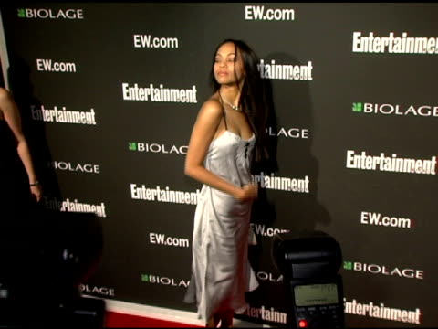 Zoe Saldana at the Entertainment Weekly's Viewing Party for 2006 Academy Awards at Elaine's in New York New York on March 5 2006