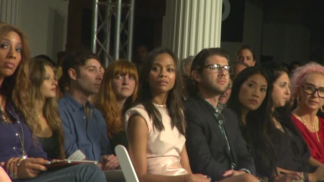 Zoe Saldana at the Gen Art Fresh Faces In Fashion Presented By Moroccanoil at Los Angeles CA