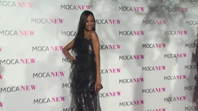 Zoe Saldana at the MOCA NEW 30th Anniversary Gala at Los Angeles CA