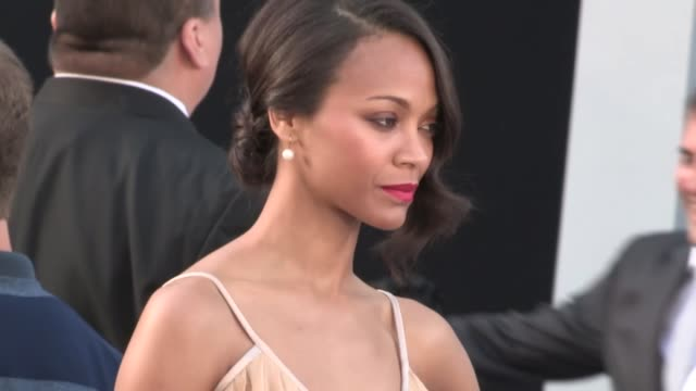 Zoe Saldana greets fans at the Star Trek Into Darkness Premiere in Hollywood 05/14/13