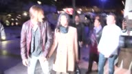 Zoe Saldana Marco Perego arrive at Beyonce Mrs Carter Show Staples LA Celebrity Sightings in Los Angeles CA on 12/03/13