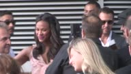 Zoe Saldana Marco Perego arriving at The Book Of Life Premiere Los Angeles in Celebrity Sightings in Los Angeles