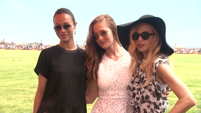 Zoe Saldana Minka Kelly and Rachel Zoe at The Fifth Annual Veuve Clicquot Polo Classic at Liberty State Park on June 02 2012 in Jersey City New Jersey
