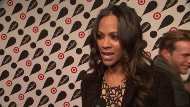 Zoe Saldana on fashion designers working with Target at Target Neiman Marcus Holiday Collection Launch Event INTERVIEW Zoe Saldana on fashion...