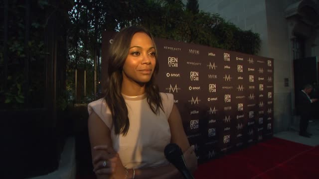 Zoe Saldana on how she would describe her personal style and talks about her outfit She is wearing Antonio Berardi at the Gen Art Fresh Faces In...