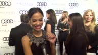Zoe Saldana on kicking off Golden Globe week at this party what she's most looking forward to this evening her Martin Katz jewelry what she thought...