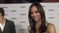 Zoe Saldana on the film she directed on why it inspired her on Glamour and on Clarisonic companies giving back at the 2011 Glamour Reel Moments...