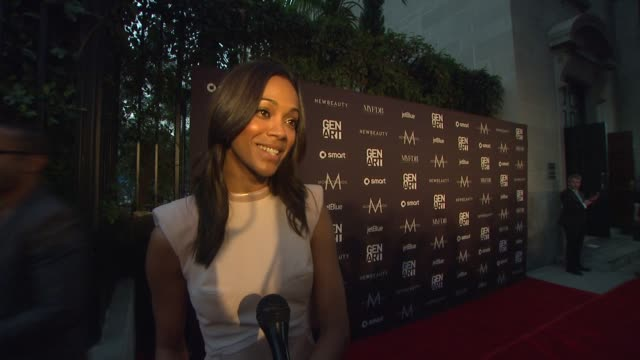 Zoe Saldana on what made her want to attend this event why its important for Gen Art to support emerging talent what designer she is most excited to...