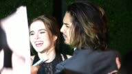 Zoey Deutch Avan Jogia greet fans while departing the Vanity Fair Fiat Young Hollywood in Hollywood Celebrity Sightings in Los Angeles CA on