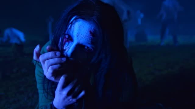 HD: Zombie Eating Human Flesh