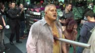 Zombies stunt at ATMOSPHERE Zombies stunt at Call of Duty Black O at HMV Oxford Street on November 12 2012 in London England