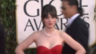 Zooey Deschanel at 70th Annual Golden Globe Awards Arrivals on 1/13/13 in Los Angeles CA