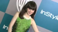 Zooey Deschanel at the 13th Annual Warner Bros And InStyle Golden Globe AfterParty at The Beverly Hilton Hotel on 1/15/12 in Los Angeles CA