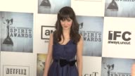 Zooey Deschanel at the Film Independent's 2009 Spirit Awards Arrivals Part 3 at Los Angeles CA