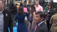 Zooey Deschanel George Stephanopoulos on the outside set of the Good Morning America show in Celebrity Sightings in New York