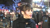 Zooey Deschanel on the arrival on the bus on not seeing the film yet at the Yes Man premiere at London