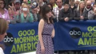 Zooey Deschanel on the outside set of the Good Morning America show in Celebrity Sightings in New York