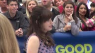Zooey Deschanel on the outside set of the Good Morning America showin Celebrity Sightings in New York