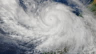 Zoom in to hurricane Patricia from space or International Space Station The hurricane is the strongest hurricane ever recordedElements of this image...